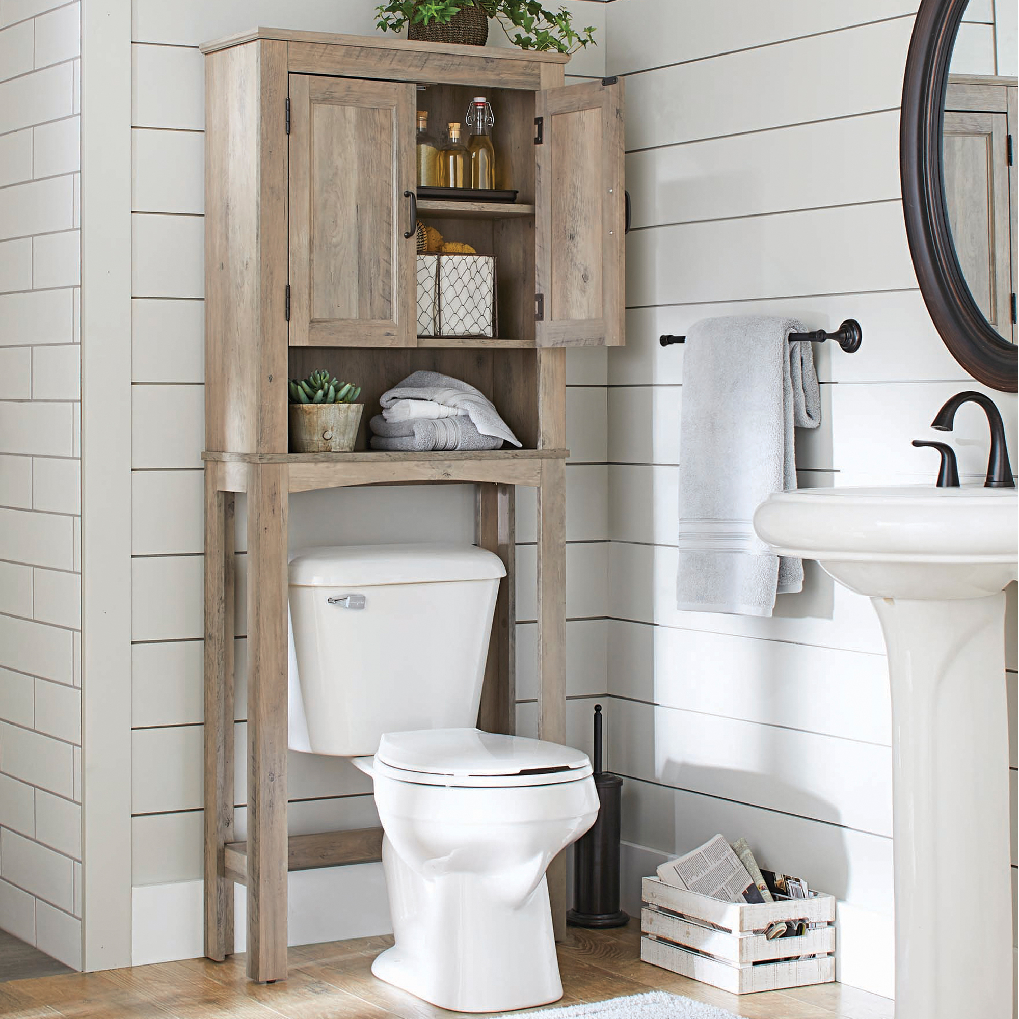 Miraculous Better Homes Gardens Northampton Over The Toilet Bathroom Space Saver Rustic Gray Finish Download Free Architecture Designs Osuribritishbridgeorg