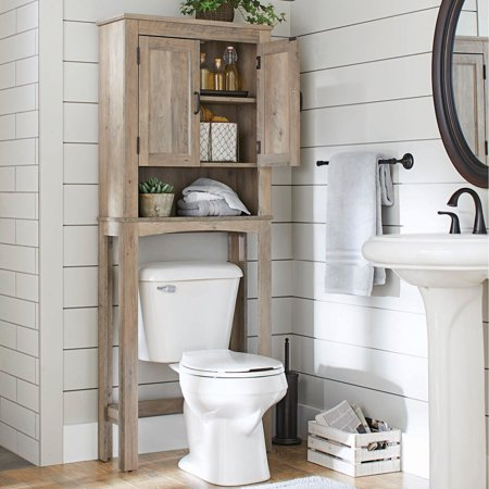 Better Homes & Gardens Northampton Over the Toilet Bathroom Space Saver, Rustic Gray Finish