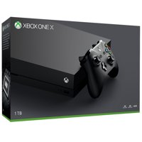 Refurbished Microsoft Xbox One X 1TB Console, Black, CYV-00001