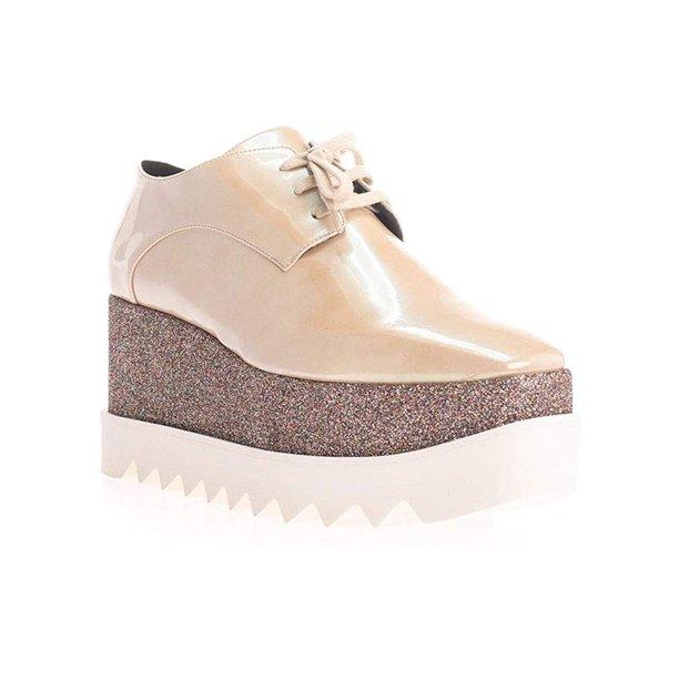 Stella Mccartney Stella Mccartney Women S Elyse Platform Sneakers Glitter Gold Walmart Com Walmart Com
