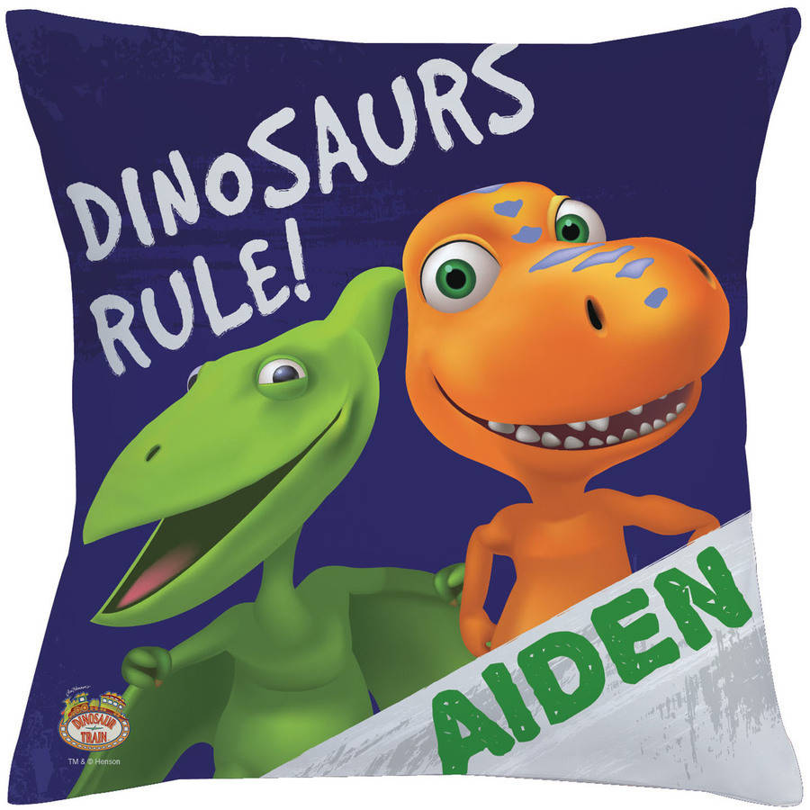 Personalized Dinosaur Train Dinosaurs Rule Throw Pillow