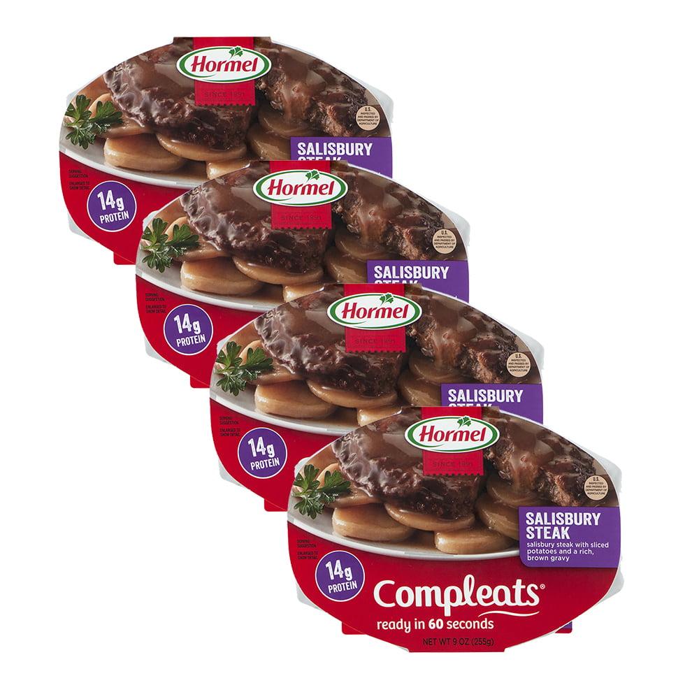 (4 Pack) Hormel Compleats Salisbury Steak, 9 Ounce