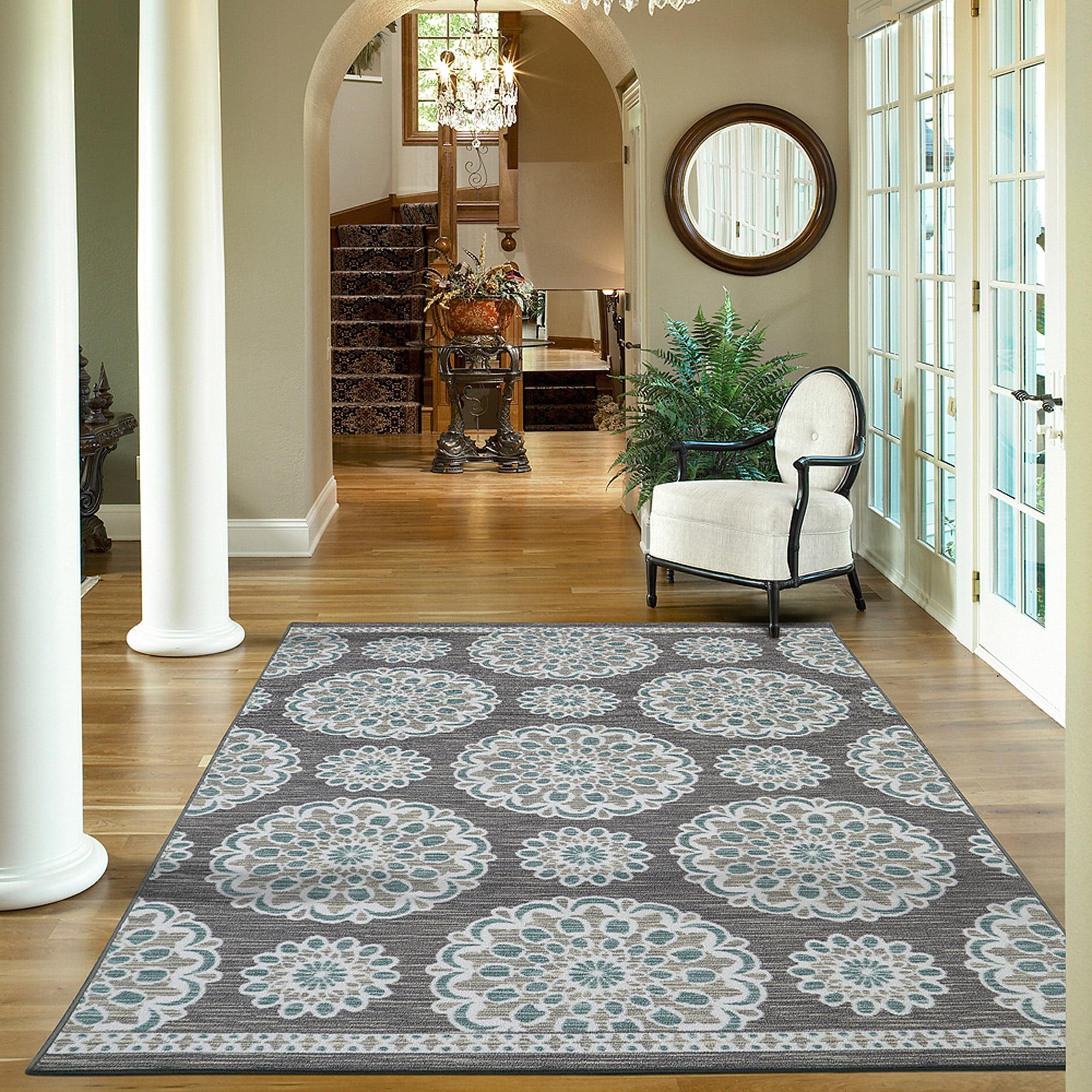 Foyer Rug Sets : Foyer rugs walmart com mohawk home midnight rosette nylon