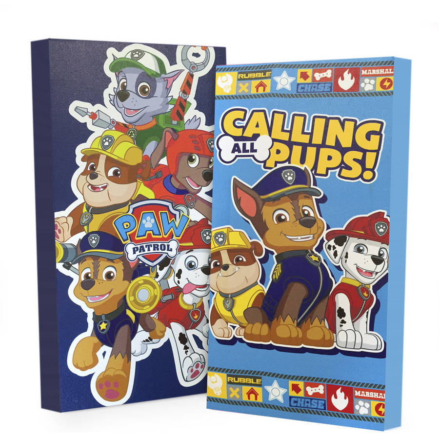 Nickelodeon Paw Patrol 2-Pack Canvas Wall Art