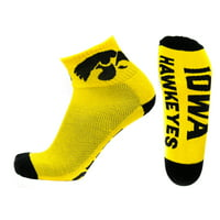 Iowa Hawkeyes Gold Quarter Sock