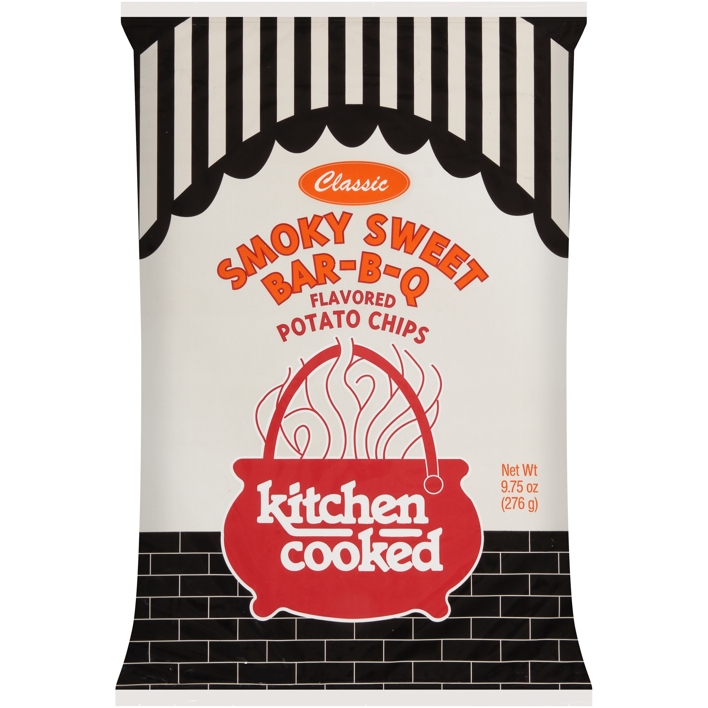 Kitchen Cooked Classic Smoky Sweet Bar-B-Q Flavored Potato Chips 9.75 oz. Bag