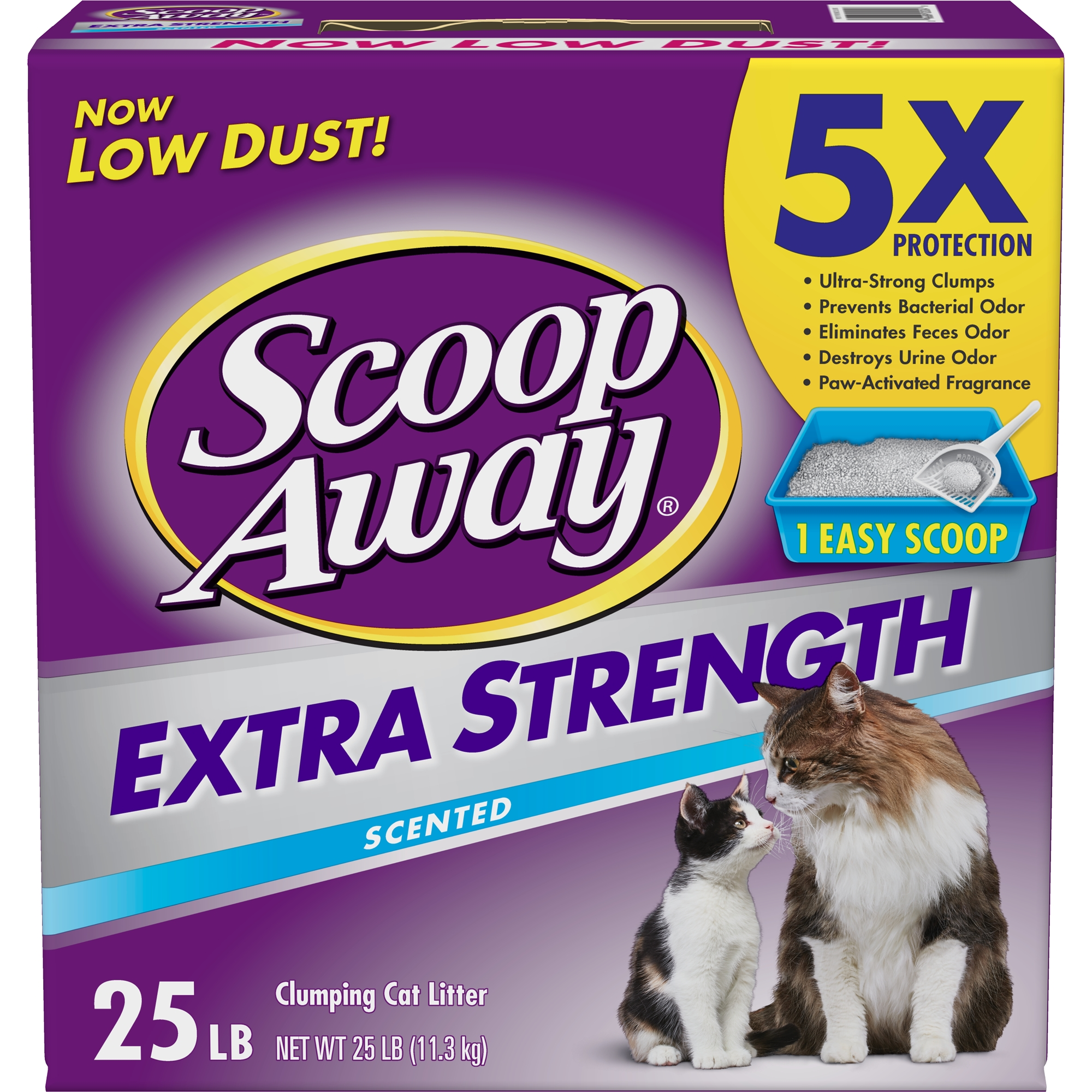 Scoop Away Extra Strength, Scented Cat Litter, 25 lbs