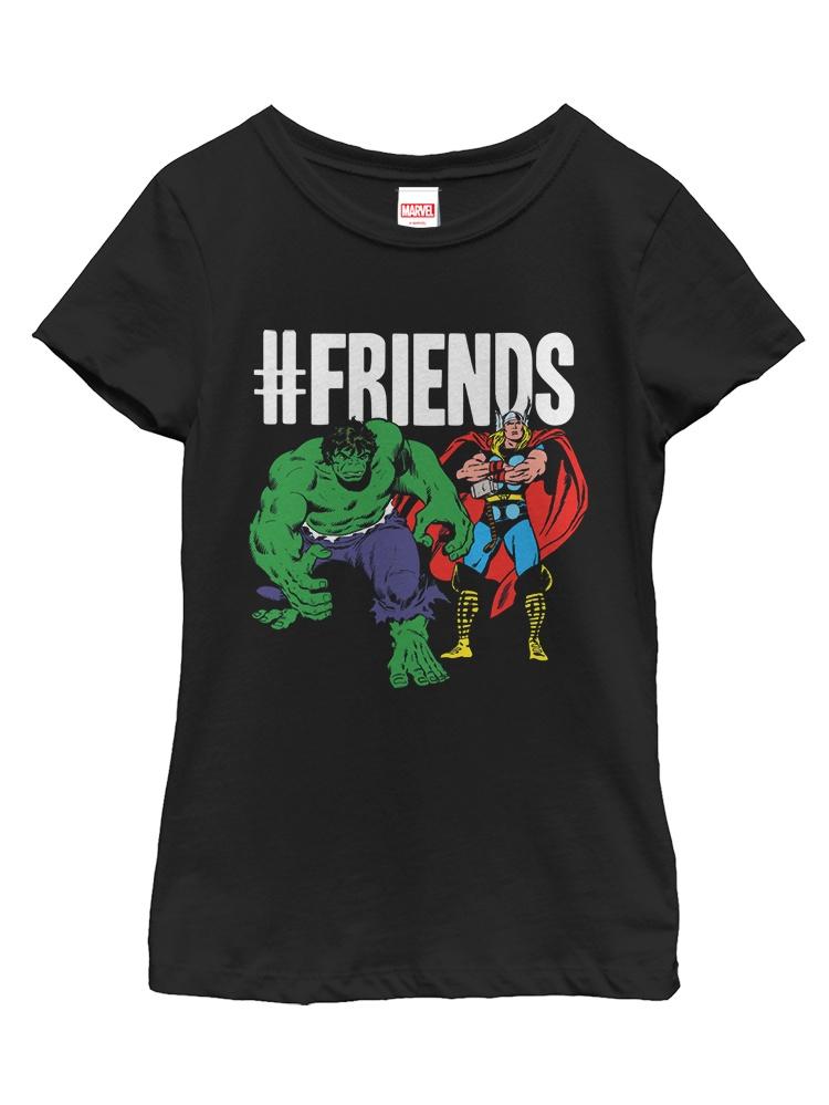 Marvel Girls' #Friends Thor Hulk T-Shirt