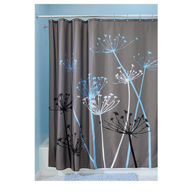 Interdesign 37221 Thistle Grey Blue Shower Curtain