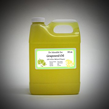 Dr. Adorable - 100% Pure Grapeseed Oil Organic Cold Pressed Natural Hair Skin -32 oz