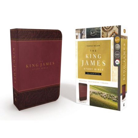 The King James Study Bible, Imitation Leather, Burgundy, Full-Color