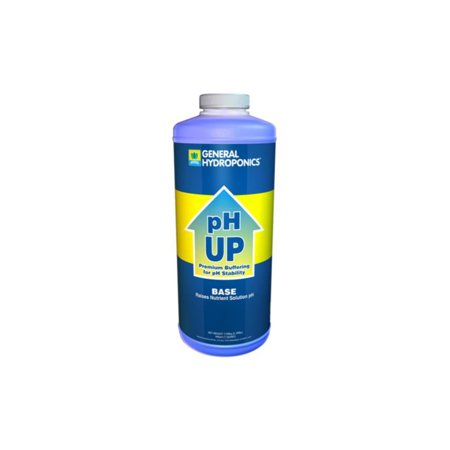 pH UP Liquid pH Adjuster - 1 Quart - by General Hydroponics - Microgreens, Seed Starting