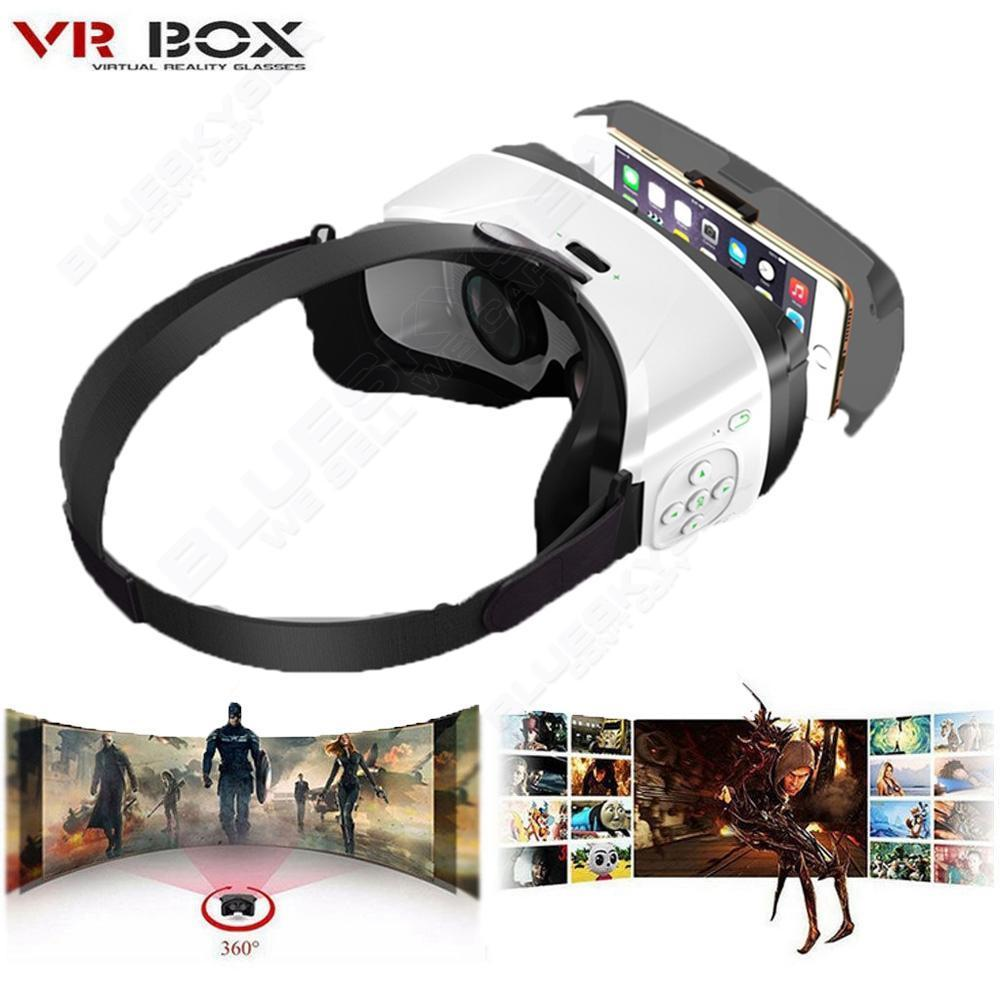 2 in1 VR Headset With Control Buttons For Samsung iPhone 6s Siri Voice Contro
