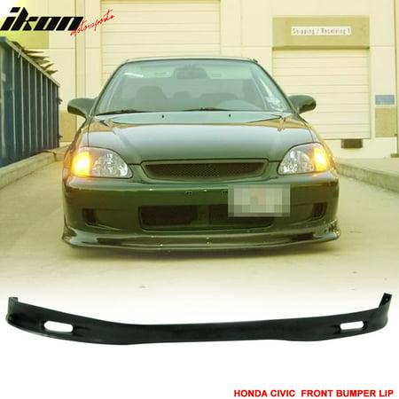 JDM SPN Urethane Front Bumper Lip Spoiler For 99-00 Civic EK CX DX SI EX Coupe