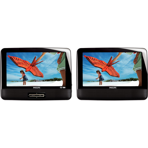 "Philips RBPET9402A/37B 9"" Dual Screen Portable DVD Player, Refurbished"