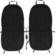 2pcs Car Heat Pad Heating Seat Cushion Vehicle Seat Heater Adjustable Temperature With Cigarette Lighter Plug 12V