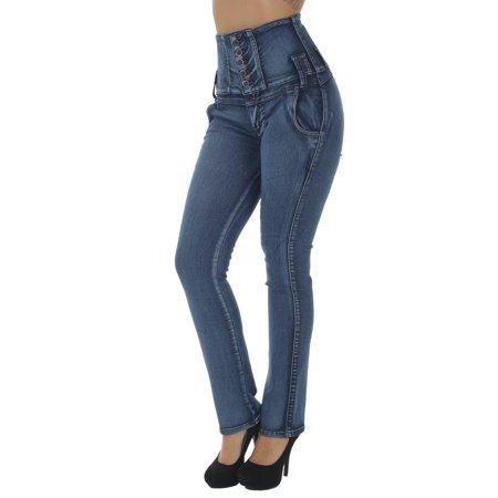 - Colombian Design, Butt Lift, Levanta Cola, High Waist, Boot Leg Jeans