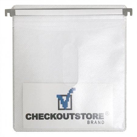 CheckOutStore 500 CD Double-sided Refill Plastic Hanging Sleeve White Double Sided White Refill Sleeve
