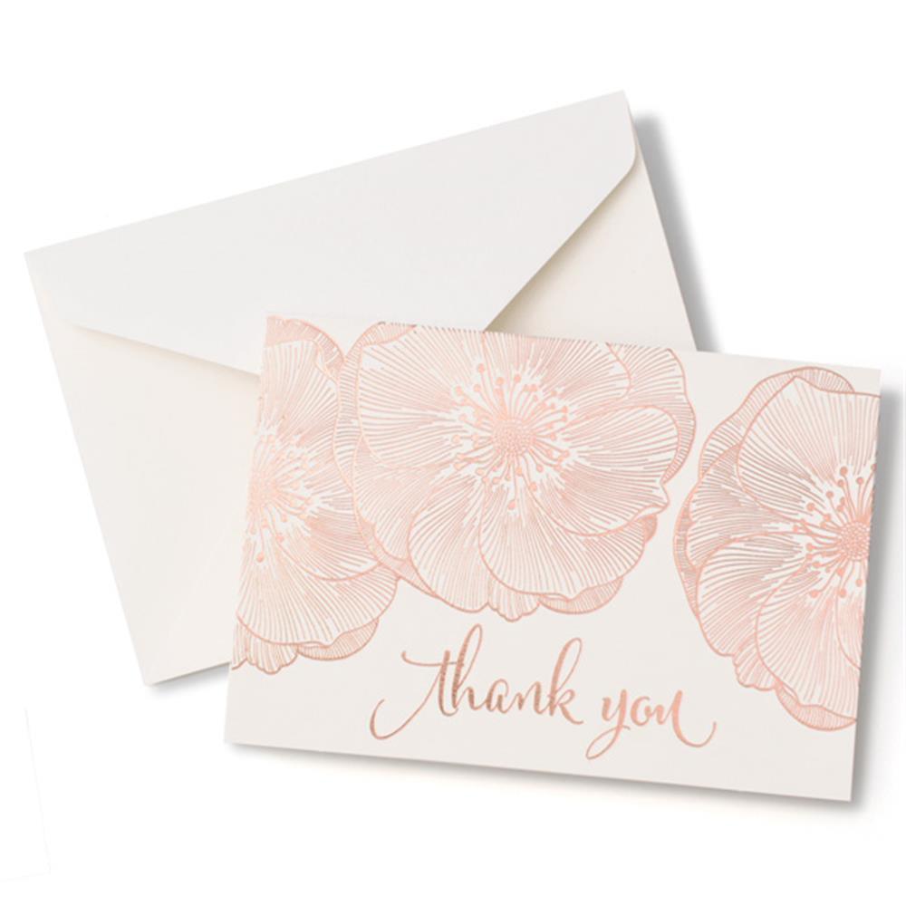 Gartner Studios Brides Rose Gold Floral Thank You Card 40 Count