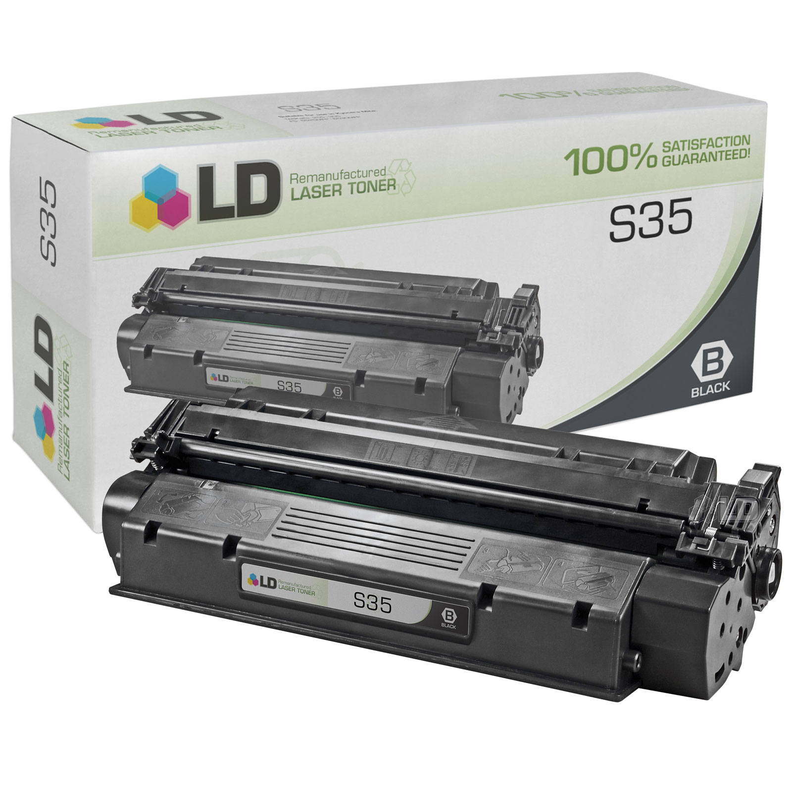 LD Remanufactured Black Laser Toner Cartridge for Canon 7833A001AA (S35) for use in the ICD-340, ImageClass D320, D340,
