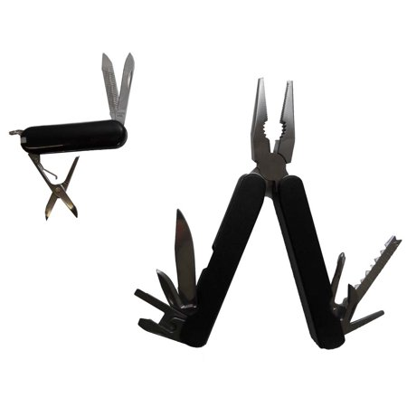2 Piece Multi-tool Plier & Mini Multi Tool Pocket Knife Set (ToolUSA: TP-01073)