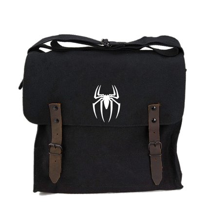 Spiderman Symbol Army Heavyweight Canvas Medic Shoulder Bag (Spider Man Bag)