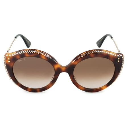 Gucci GG0214S-003 Havana Cat Eye Sunglasses