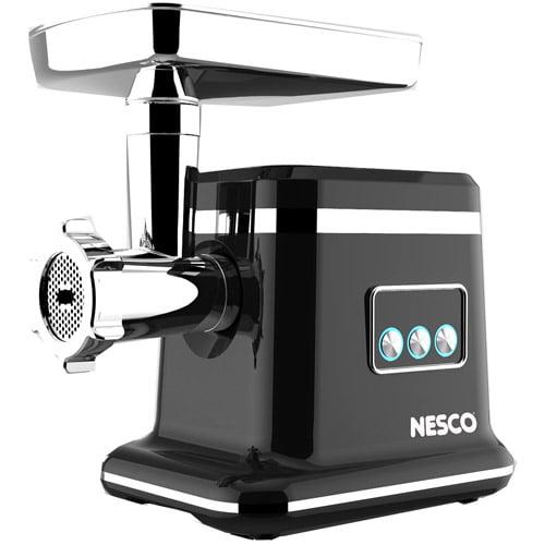 Nesco Food Grinder, Black/Stainless Steel