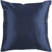 """18"""" Shiny Solid Navy Blue Decorative Throw Pillow"""