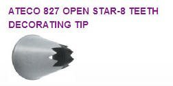 Open Star-8 Teeth Cake / Cupcake Decorating Icing Tip #827