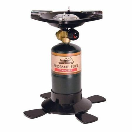 Texsport Single Burner Propane Camp Stove, Uses 16.4 or 14.1