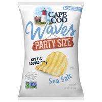 Cape Cod Kettle Cooked Waves Sea Salt Potato Chips, 13 Oz Party Size