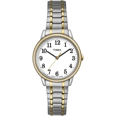 Timex Women's Easy Reader 30mm Two-Tone Stainless Steel Expansion Band Watch