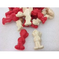 Gummi Elves Red and White Gummy Elf Christmas Candy 2 pounds