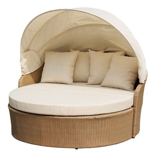 W Unlimited Earth Outdoor Canopy Daybed with Mattress