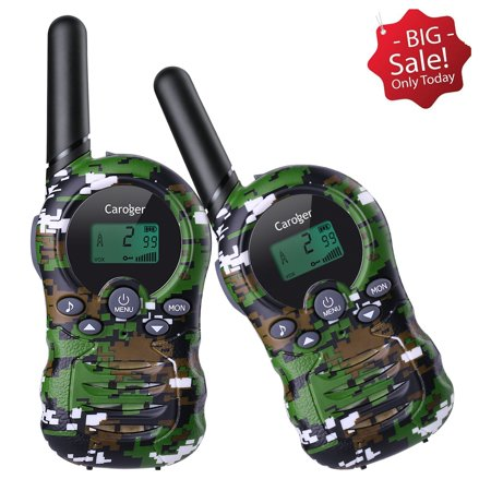Caroger Kids Walkie Talkies, 22-Channel FRS/GMRS Radio, 2-Mile Range FRS/GMRS 462/467MHZ Two Way Radios, and Toys for 3-12 Year Old Boys and