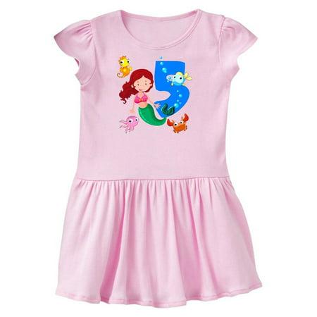 Mermaid 5th Birthday Toddler Dress