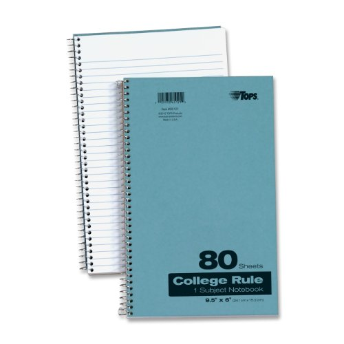TOPS 1-Subject Kraft Notebook