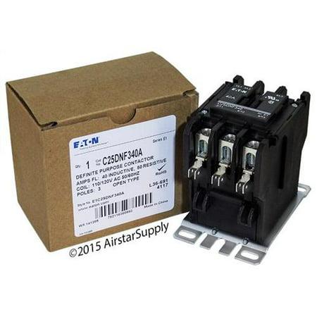 40 Amp / 3 Pole / 110-120V Coil , Eaton Cutler Hammer C25DNF340A Contactor Cutler Hammer 40 Amp