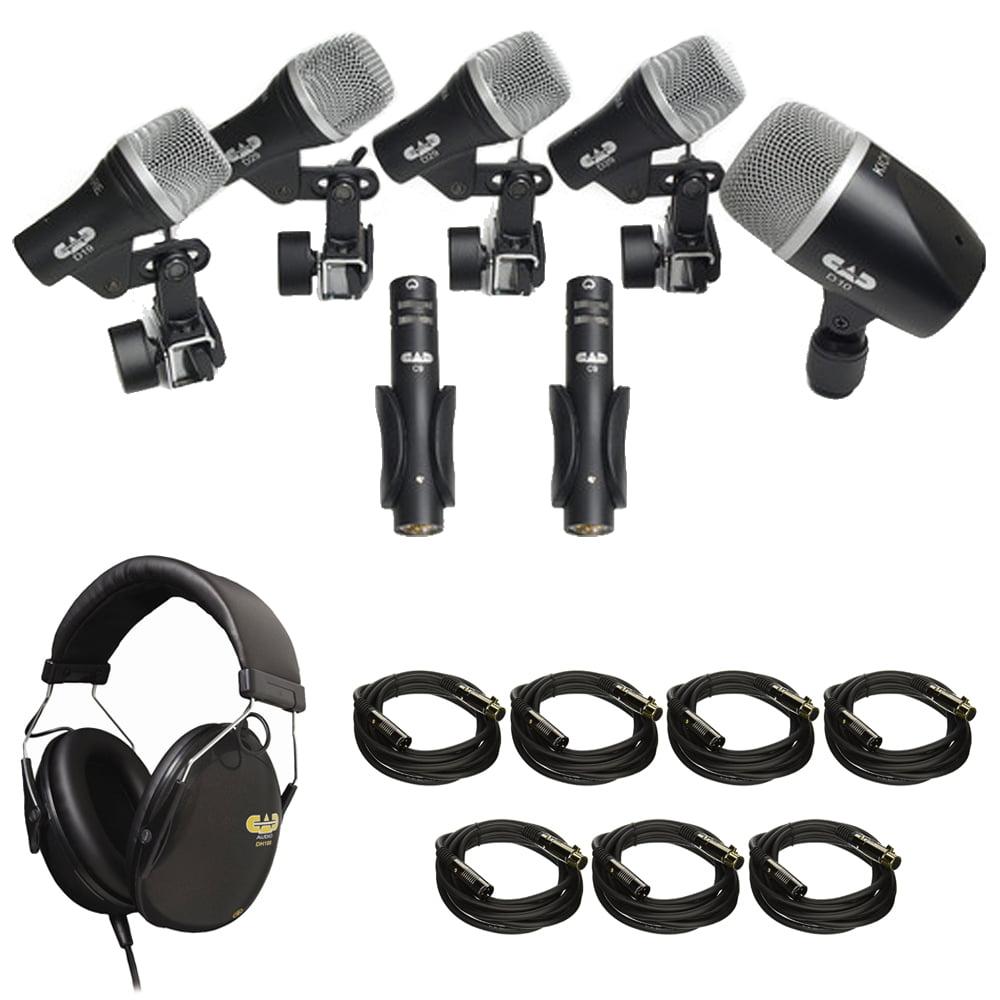 CAD Audio (Stage 7) 7-piece Drum Microphone Pack (3) D29, (2) C9, D19 & D10 + CAD Audio... by CAD Audio
