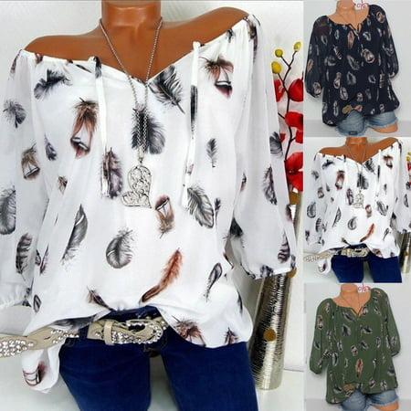 104388e238b Urkutoba - Fashion Women's Loose Long Sleeve Cotton Casual Blouse Shirt  Tunic Tops Blouse #448 - Walmart.com