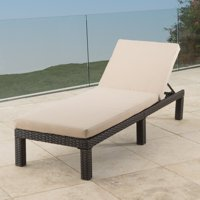 Kappa Wicker Patio Chaise Lounge with Water Resistant Cushion