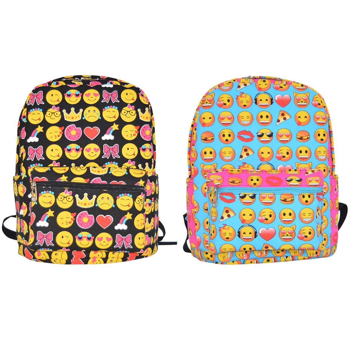 Girls Boys Childrens Kids Emoji Face Movie Cute Cartoon School Backpack Bookbag