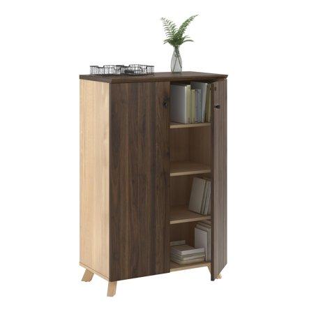 AX1 Storage Cabinet, Walnut (Medium Walnut Cabinet)