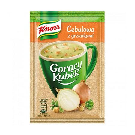 - Knorr Goracy Kubek Cebulowa z Grzankami Onion Soup with Croutons Mix 17g Bag (5-Pack)