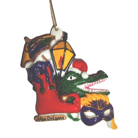 Stocking Gator Mask Parasol New Orleans Christmas Ornament Party Favors - Halloween Party 2017 New Orleans