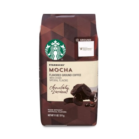 Starbucks Mocha Flavored Ground Coffee, 11-ounce Bag Deluxe Starbucks Coffee Gift