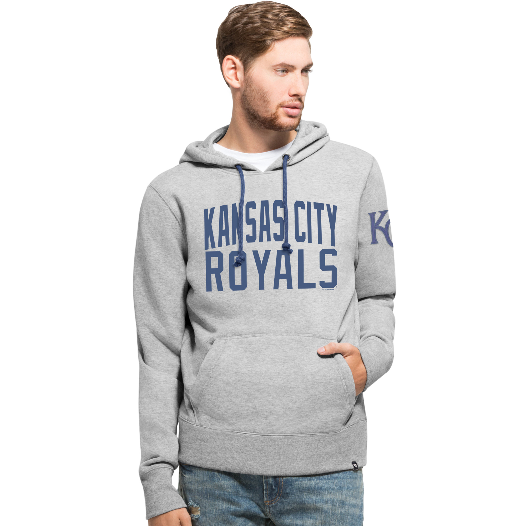 Kansas City Royals '47 Game Break Cross Check Hoodie - Gray