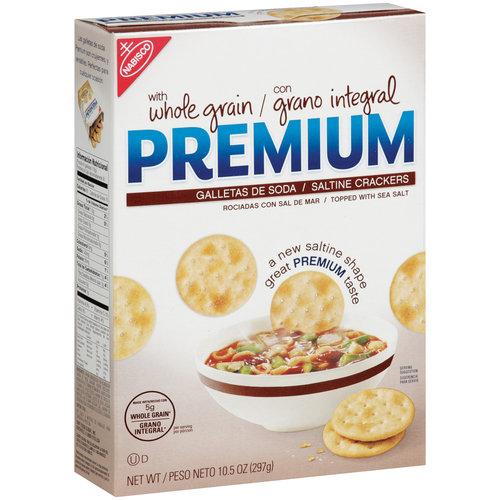 Nabisco Premium Saltine Crackers With Whole Grain, 10.5 oz