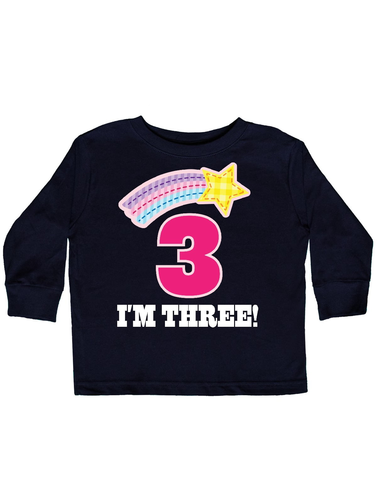 inktastic 3rd Birthday Party Unicorn 3 Year Old Toddler Long Sleeve T-Shirt